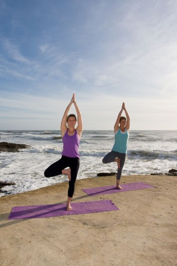 Yoga in El Palmar am Strand